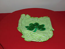 BABY BLOOMERS PANTS DIAPER COVER IRISH SHAMROCK  SIZE 0-6 MONTHS