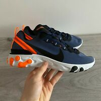 NIKE MENS REACT ELEMENT 55 - UK 9/US 10/EUR 44 - NAVY BLUE/ORANGE (CI3831-400)