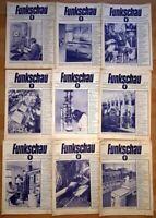 21x Funkschau 1950 Funktechnik Zeitschrift Hefte alt Franzis Radio TV Kamera