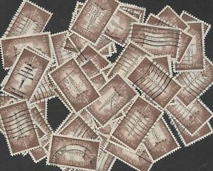 Postage Stamps For Crafting: 1959 4c Petroleum Industry; Brown; 50 Copies