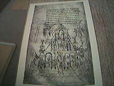 postcard unused drawing of noah noah's ark caedmon ms bodleian