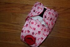 Female dog diaper-panties-QUILTED-Washable- PINK PAWS by angelpuppi