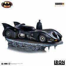 Batman Michael Keaton & Batmobile Deluxe 1 10 Scale Statue Iron Studios Sideshow