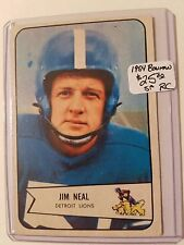 1954 Bowman #75 Jim Neal SP RC : Detroit Lions