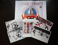 LOT 6 NHL  HOCKEY PHOTO COLOR  FINISH CLEAR GLOSSY KEN DRYDEN GOLAIE LOT8