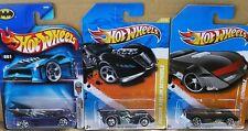 Batman Hotwheels Lote De 3 Batmobiles - 001 a partir de 2004 + Arkham + Track Stars