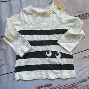 First Impressions Toddler long sleeve T-shirt-white-size 18 Months-NWT