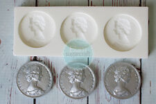 Silicone Mould, Queen Elizabeth Coin Money Pirate Treasure, coins M217
