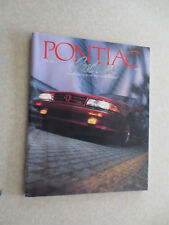 1988 Pontiac Firebird Grand Am Fiero Trans Am Bonneville advertising booklet