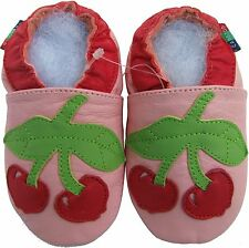 shoeszoo cherry pink 2-3y S soft sole leather toddler shoes