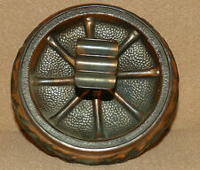 "Wagon Wheel Bronze Finish Ashtray 3"" x 5 3/8"""