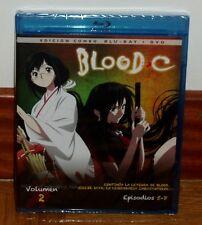 BLOOD C-VOLUMEN 2-EPISODIOS 5-8-COMBO BLU-RAY+DVD-NEW-SEALED-MANGA-COMIC