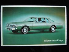 1979 Impala Sports Coupe Chevrolet Ad Postcard