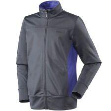 Youth Girls Reebok Tricot Blocked Fleece Jacket Full Zip Ebony Haze Grey Size XS