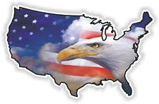 USA Eagle autocollant Amérique États-Unis Carte Drapeau Autocollant Vinyle pare-chocs Patriot N22