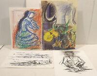4 Diferentes Cuadros Handz Aqua/Abstracta / Stilll. De en Partes Firmado Calix -