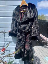 Abrigo de piel de visón real Vintage