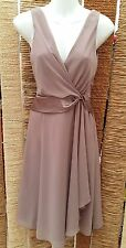 DEBENHAMS DEBUT BNWT Ladies Taupe Sleeveless Dress Size 6 RRP £89