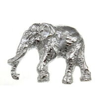Sterling Silver Elephant Brooch with presentation gift box