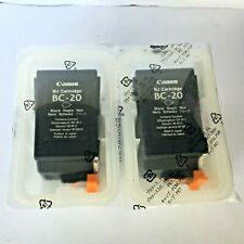 New Genuine 2PK Canon BC-20 Black Ink Cartridges, Multipass C2500, BJC-4300