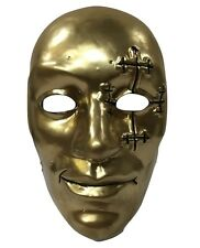 UK DANNY BOY GOLD HOLLYWOOD UNDEAD BAND PLASTIC HALLOWEEN MASK FANCY DRESS UP CD