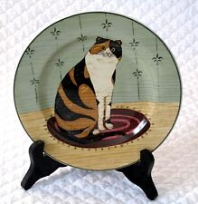 "2000 Warren Kimble Cat Collection Sakura Oneida 4 Plates 8.25"" Retired Calico"