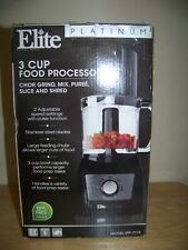 Elite Platinum EFP-7719W 3 Cup Food Processor 2 Speed
