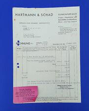 Alte Rechnung 1939 aus Schweinfurt, Drogen-Chemikalien, Wein-Tee-Import   (C23)