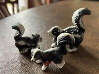 Vintage Miniature Skunk Family Set of 3 Bone China Figurines Japan Lt A Sticker