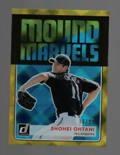 SHOHEI OHTANI-DONRUSS MOUND MARVELS (GOLD REFRACTOR VARIANT/99) ROOKIE CARD-