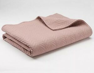 """CHAPS Home COVERLET Size: KING New SHIP FREE Mauve Quilted """"BRITTANY"""" Bedding"""