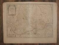 """Orig. Kupferstichkarte bei Jansson """"Beauvaisis. Comitatus Belovacium"""" um 1650 sf"""