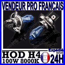 AMPOULE PLASMA HOD H4 100W LAMPE HALOGENE FEU EFFET XENON BLANC BLANCHE 8000K 90