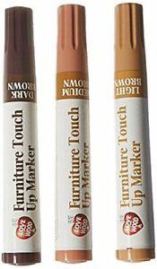 Pack Of 3 Magic Wood Furniture Touch Up Repair Markers Pens Light Dark Medium