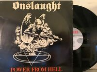 Onslaught – Power From Hell LP 1987 Combat – 88561-8173-1 RE EX w/ Inner