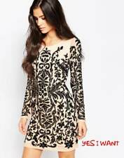 Forever Unique Hollies Heavily Embellished Dress with Long Sleeves UK8 RRP £450