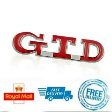 Red GTD Boot Badge Sticker Sporty Self Adhesive Emblem For VW Golf Polo Bora TDI