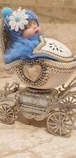 Baby Shower Onlyone Faberge egg Antique Newborn Boy New Grandson Godson Gift 5ct