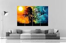Day And  Night Timelapse Wall Art Poster Grand format A0 Large Print