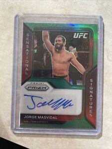 2021 Prizm UFC Jorge Masvidal Clean Sensational Signatures Auto Green Prizm