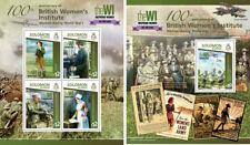 World War I Military Women Great Britain Medicine Solomon Islands MNH stamp set