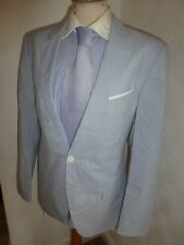 MENS HUGO BOSS RED ALONO HATEM STRIPE COTTON FALL SUIT JACKET 38 WAIST 34 LEG 31