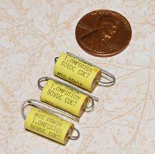 3 Cornell Dubilier MTC 1uf 50VDC Metallized Polycarbonate Film Capacitors NOS