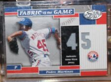 02 Donruss Fabric of Game Jersey Pedro Martinez 42/45