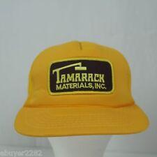 Vintage Tamarack Materials Inc. Trucker Hat - Snapback Cap - Construction