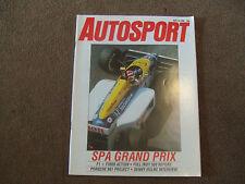 Autosport 29 May 1986 Spa Belgian GP Porsche 961 Denny Hulme Michael Andretti