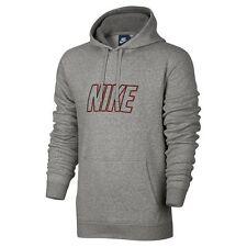 69cc41ef NWT Men's Nike Fleece Logo Hoodie Choose Size Dark Gray Heather