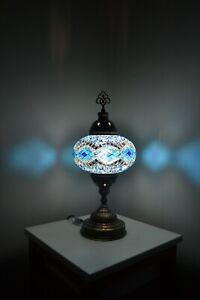 TURKISH MOROCCAN MOSAIC  Table Lamp , Bedside Lamp Diamond (TL1GBSG3C8)