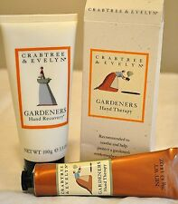 crabtree & evelyn Gardeners Hand Recovery Cream and hand Therapy Cream Set new