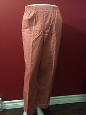 ALFRED DUNNER Women's Salmon Summer Haze Pants - Size 16 - NWT $46